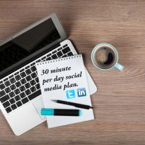 Too Busy for Social Media? 30 Minutes a Day is All You Need
